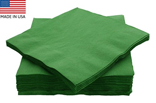 Amcrate Big Party Pack 50 Count Green Dinner Napkins Tableware- Ideal for Wedding, Party, Birthday, Dinner, Lunch, Cocktails. (7