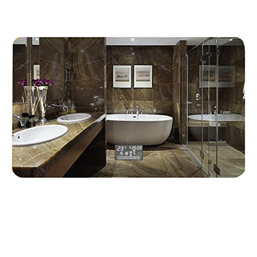 - Bathroom Mirrors Lights Wall Mount Anti-Fog Touch Switch Time Temperature Display Bluetooth Applicable Bedroom/Toilet (Color : Level, Size : 70x90cm)
