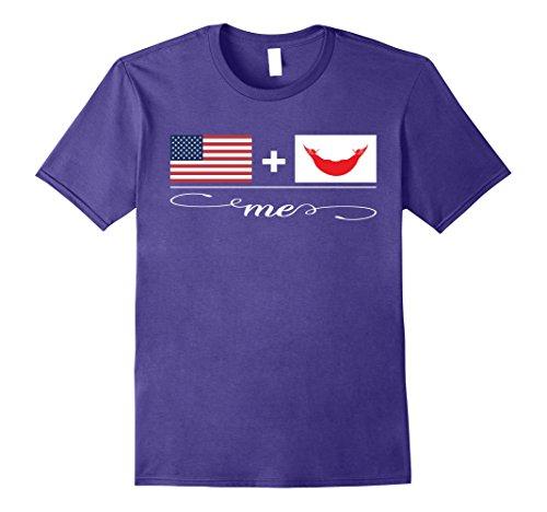 Mens American + Easter Islander = Me Flag T-Shirt XL Purple