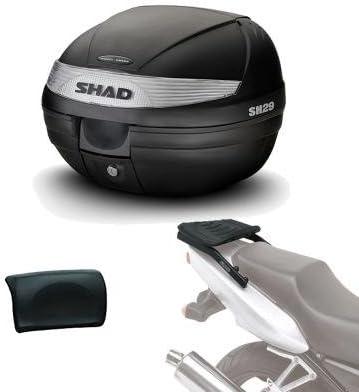 Sh29rehe13 - Kit fijacion y Maleta baul Trasero + Respaldo Pasajero Regalo sh29 Compatible con Suzuki Burgman Suzuki Burgman 400 2017-2017