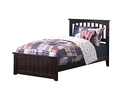 Atlantic Furniture AR8716031 Mission Twin XL Bed Solid Hardw