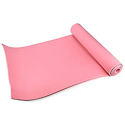 (Pink)8mm Thick 3 Color EVA Yoga Mat Non-Slip Body Building Health Lose Weight Exercise Gym Household Cushion Fitness Pads