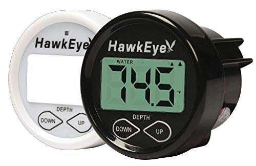 HawkEye D10DX.06T In-Dash Depth Sounder with Air and Water Temperature (Includes Airmar Thru Hull Transducer)