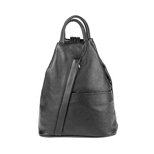 OBC Only-Beautiful-Couture Women's Backpack Brown Cognac-black ca. 25x30x11 cm (BxHxT) Black