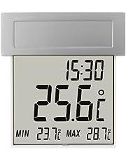 TFA Dostmann Vision Solar digital fönstertermometer, 30.1035, stor display med utomhustemperatur