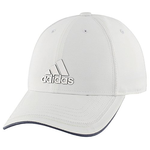 White Structured Adjustable Hat (adidas Mens Contract III Structured Adjustable Cap, White/Grey, One Size)