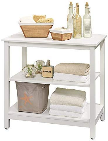 Interbuild MIA Bathroom Bench | Hall Bench | 3-Tier Rack shelf | Kitchen Living Room Holder | Organizer Storage