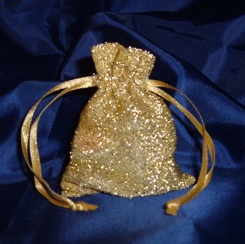 Bridescove 3x4 Sparkle Fabric Wedding Favor Gift Bags/Pouches - Gold (10 Bags) Wedding and Party ()
