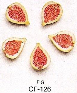 Fig Ceramics (HALF FIG - Ceramic Fruit - Pack of 12)