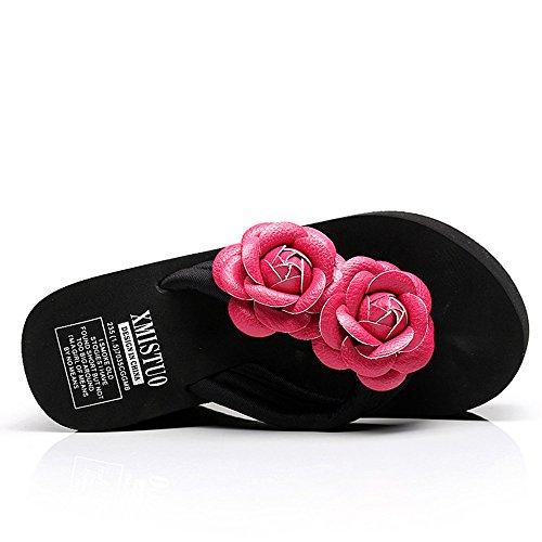 en avec pour Pantoufles Couleur Été pour 1 EU36 5 8 Chaussures Femmes Couleurs HAIZHEN Hauts à Femmes CN35 UK3 12CM Talons Taille Mode 5 wP8In5q