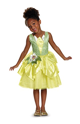 Frog Prince And Princess Costume - Tiana Classic Disney Princess & The Frog Costume, Medium/7-8