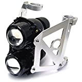 Dual Stacked Streetfighter Projector Motorcycle Motorbike Headlight Set Emarked for 40/41mm Forks