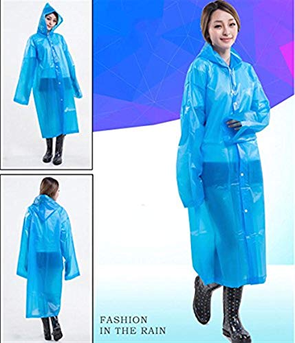 Lluvia Saoye Chaquetas Fashion Emergencia Blau Capucha De Ropa Eva Rainwear Amarillo Con Impermeable Y Poncho fwqtw4rH