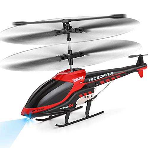 VATOS RC Helicopter Remote Control Helicopter with Built-in Gyro and LED Light 3.5 Channel Alloy Mini Helicopter for Kids & Adult Indoor Micro RC Helicopter Best Christmas Birthday Toy Gift