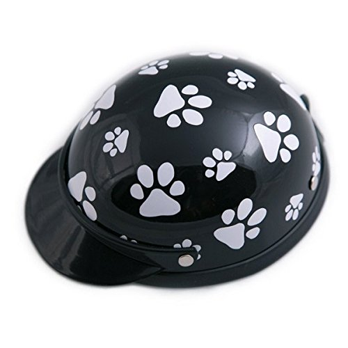 Helmet for Dogs, Cats and All Small Pets - Black Paws - Small for dogs between 5-10 lbs. by Prima Dog
