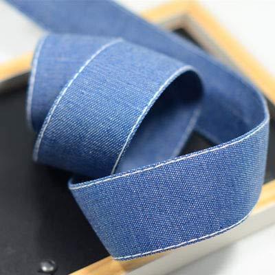 Denim Ribbon Trim Tape   Press Cloth Headdress   Handmade Bowknot Neck Material Fabric (10yard/lot)