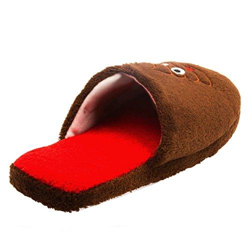 Pantofole Di Spugna Da Donna Chatty Su Pantofole Da Camera Da Letto Della Novità Ricamate (vedi Più Stili E Taglie) F Marrone