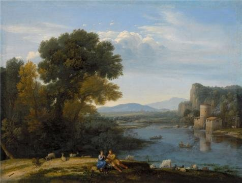 Oil Painting 'Claude Lorrain,Mill On The Tiber,ca.1650', 8 x 11 inch / 20 x 27 cm , on High Definition HD canvas prints is for Gifts And Bar, Home Theater And Kitchen Decoration, family (Tim West Pipe)