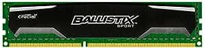 Crucial Ballistix Sport 8GB Single DDR3 1600 MT/s PC3-12800 CL9 1.5V UDIMM 240-Pin Memory (BLS8G3D1609DS1S00)