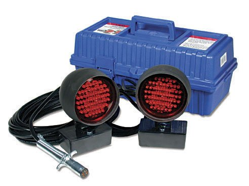 LED Towing Lights with 4-way Round Connector by Custer Products
