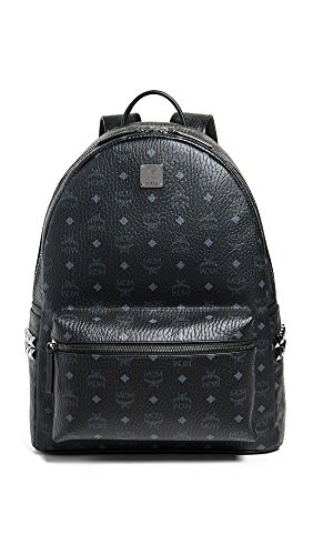 MCM Men's Stark Large Side Stud Backpack, Black, One Size