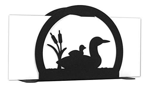 LOON DUCK BIRD Metal Letter Napkin Card Holder