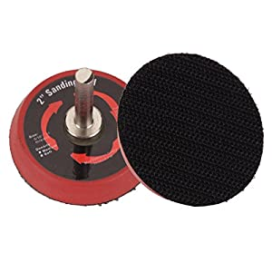 Valianto Black 2-inch Circular Sander Backing Pads Hook&Loop With Drill Attachment, Pack of 10 PCS