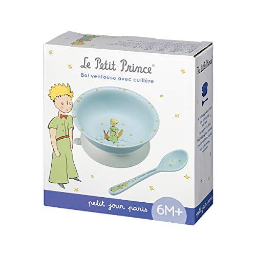 Petit Jour Paris PP702P Set met kom met zuignap en lepel, blauw