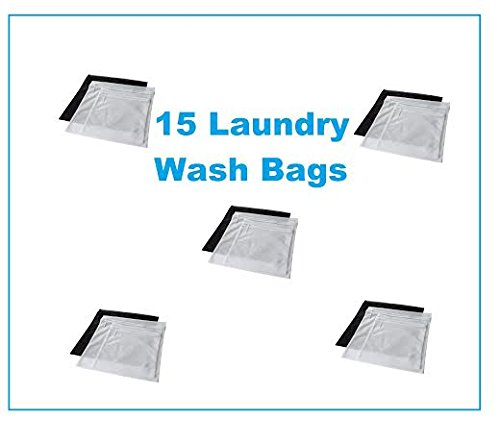 Ikea 15 Laundry Wash Bags w/ Zippers & Hanging Hooks Protect