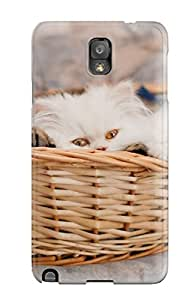 Special AnthonyJNixon Skin Case Cover For Galaxy Note 3, Popular Kittens In A Basket Phone Case