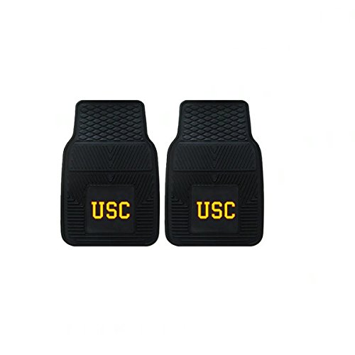 Officially Licensed NCAA Universal Fit Molded Front Rubber Floor Mats - USC Trojans (Usc Floor Trojans)