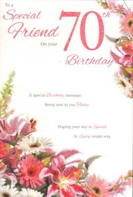 Special friend on your 70th birthday birthday card amazon special friend on your 70th birthday birthday card bookmarktalkfo Gallery
