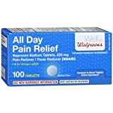 Walgreens All Day Pain Relief Naproxen Sodium 220mg, Tablets, 100 ea