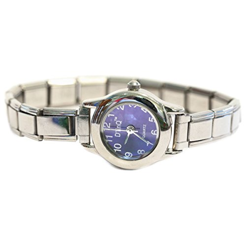 - NewCharms Lavender Round Italian Charm Watch