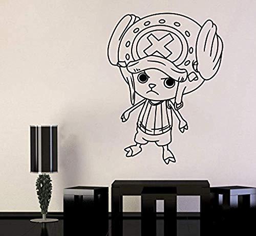 One Piece Wall Vinyl Decal Top Anime Wall Art Tony Chopper Vinyl Sticker Decor for Home Bedroom Design SC3(22x29) ()
