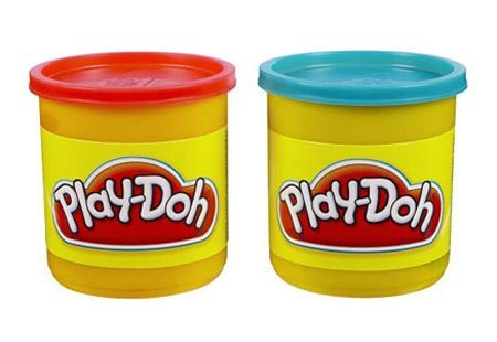 (Play-doh 2 Pack Neon Colors (Blue and Red))