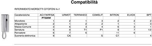 Schema Citofono Urmet 5 Fili.Cornetta Citofonica Farfisa Compatibile Urmet Ecc 4 1 3 1 Amazon