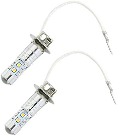 LEDフォッグライト ヘッドライト LED電球 H3 50w アルミニウム 明るい白 2個入
