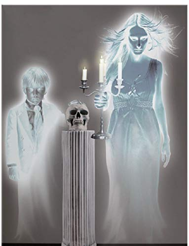 Large 4ft 5ft Haunted House Two 2 Ghostly Spirit Wall Border Scene Setter Decal ()