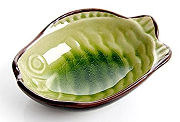 aexge el pescado forma cuenco de porcelana para servir pan platos para salsas Salsa de soja Sushi de platos para aperitivos platos vajilla: Amazon.es: Hogar