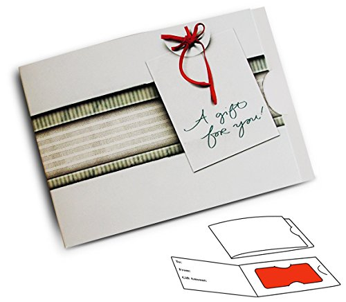 Side Fold Gift Card Presenter - Striped Fabric (Gray) (100 Pack) - Fold Gift