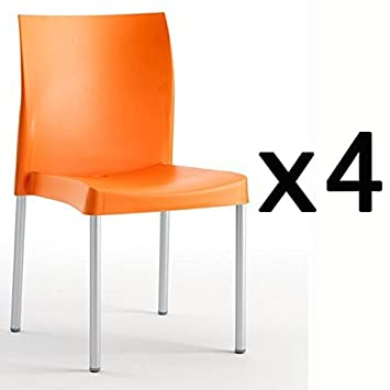 Factoriacentral - Lote de 4 sillas de diseño bruce plastico ...