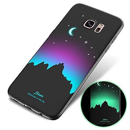 Coque Samsung Galaxy S6 edge plus, Samsung Galaxy S6 edge plus Lumière Coque, SaKuLa [Exact Fit] Matière Lumineux Fluorescent Housse pour Samsung Galaxy S6 edge plus en Silicone Souple, Samsung Galaxy S6 edge plus Ultra Slim Soft Gel TPU Etui en 360 Degrés