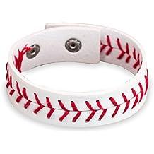 Authentic Leather Sports Bracelet   Sports Jewelry by ChalkTalkSPORTS  Softball & Baseball