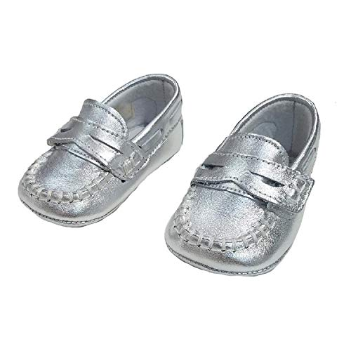 - Baby Unisex Francis Leather Soft Sole Shoe (6-9 Months (EUR 18), Nappa Platino)