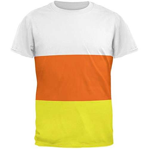 Halloween Candy Corn Costume All Over Adult T-Shirt - Medium