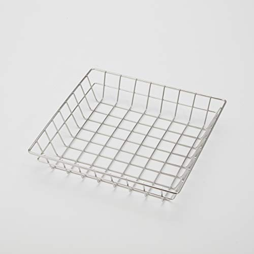 Serving Square Basket - American Metalcraft SQGS10 Square Wire Grid Basket, Stainless Steel, 10-Inches