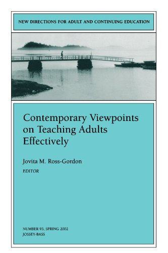 Contemporary Viewpoints on Teaching Adults Effectively: New Directions for Adult and Continuing Education, Number 93