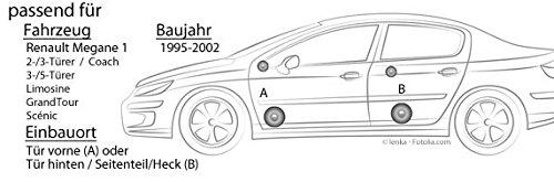 Renault Megane 1 - Altavoz Vo + Hi - Alpine sxe-1350s - 13 ...