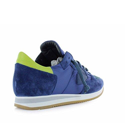 Philippe Model Zapatos de Hombre Zapatilla Tropez Mondial Azul Amarillo Primavera Verano 2018